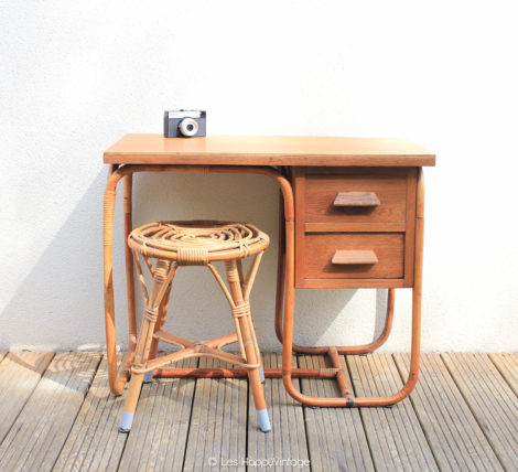 bureau de comptable en rotin les happyvintage. Black Bedroom Furniture Sets. Home Design Ideas