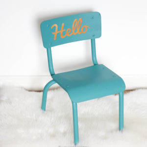 Chaise enfant vintage Hello