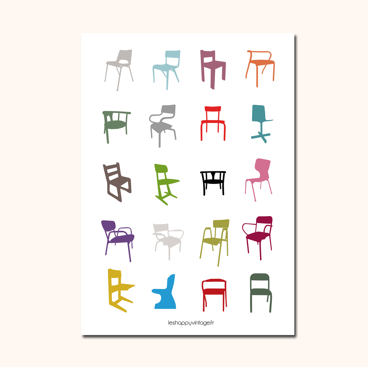 Affiches Pop Chairs 1