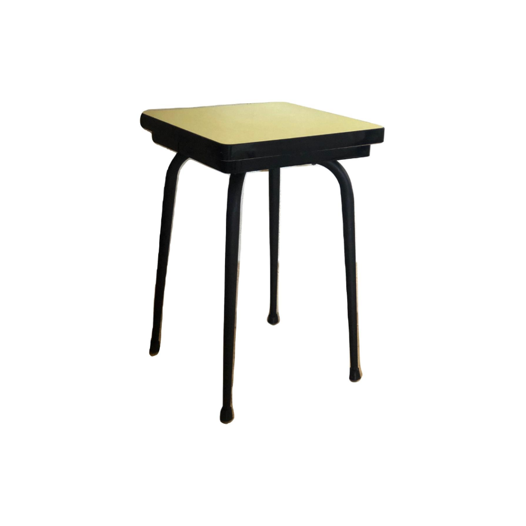 Tabouret Formica Jaune Double Assise